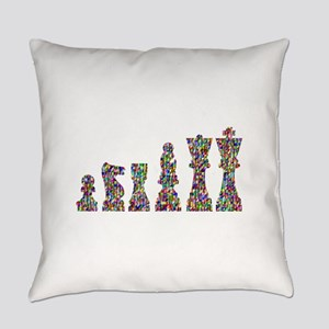 Prismatic Rainbow Chess Everyday Pillow