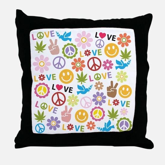 Cute Sixties Throw Pillow