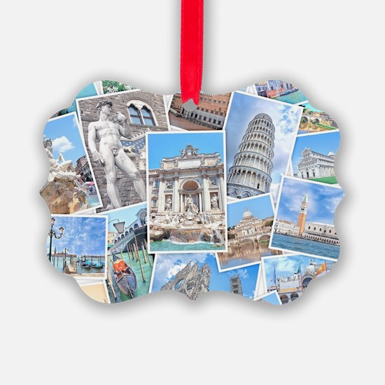 Italy Collage Ornament