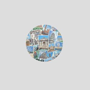 Italy Collage Mini Button