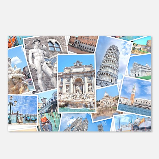 Italy Collage Postcards (Package of 8)