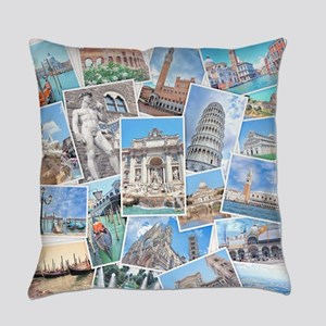 Italy Collage Everyday Pillow