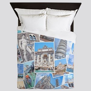 Italy Collage Queen Duvet