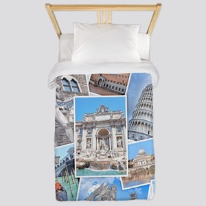 Italy Collage Twin Duvet