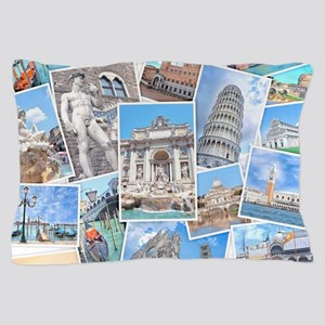 Italy Collage Pillow Case