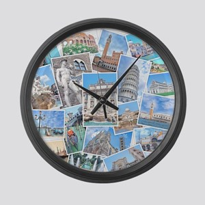 Italy Collage Large Wall Clock
