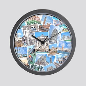Italy Collage Wall Clock