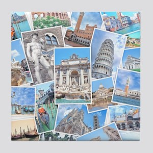 Italy Collage Tile Coaster