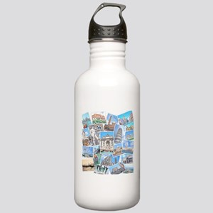 Italy Collage Water Bottle
