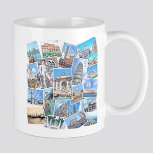 Italy Collage Mugs