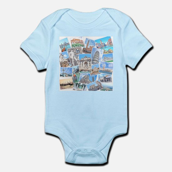 Italy Collage Body Suit