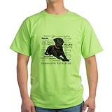 Black labrador Green T-Shirt