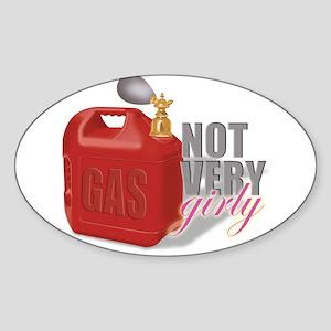 """""""Not Girly"""" Oval Sticker"""
