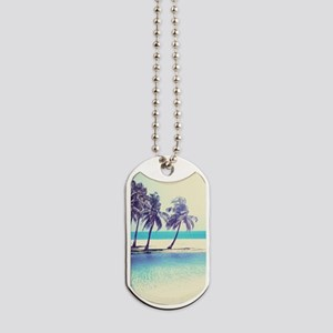 Tropical Beach Dog Tags