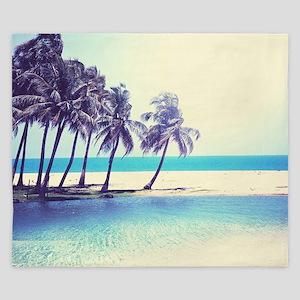 Tropical Beach King Duvet