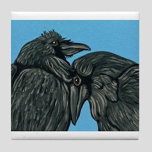 Raven Love Tile Coaster