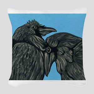 Raven Love Woven Throw Pillow