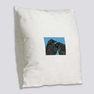 Raven Love Burlap Throw Pillow