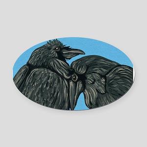 Raven Love Oval Car Magnet