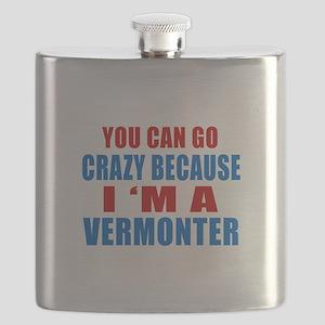 I Am Vermonter Flask
