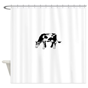Black And White Cow Shower Curtains