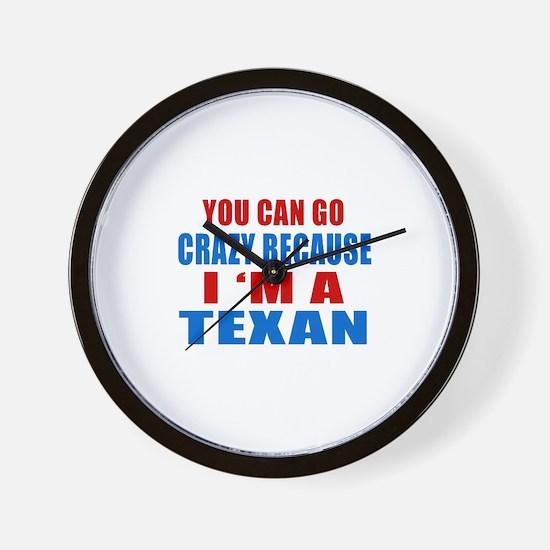 I Am Texan Wall Clock