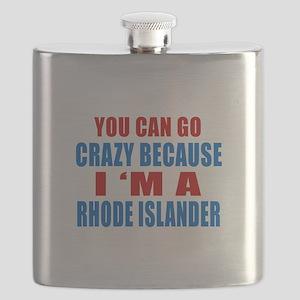 I Am Rhode Islander Flask