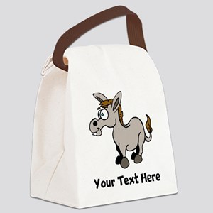 Cartoon Donkey (Custom) Canvas Lunch Bag