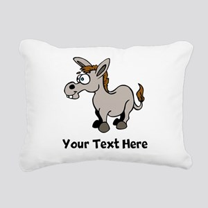 Cartoon Donkey (Custom) Rectangular Canvas Pillow