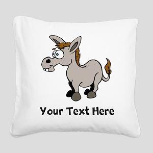 Cartoon Donkey (Custom) Square Canvas Pillow