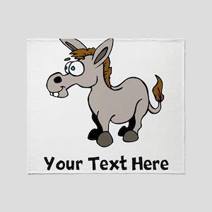 Cartoon Donkey (Custom) Throw Blanket
