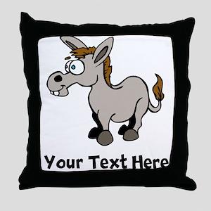 Cartoon Donkey (Custom) Throw Pillow