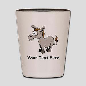 Cartoon Donkey (Custom) Shot Glass