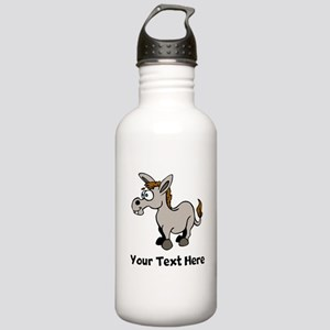Cartoon Donkey (Custom) Water Bottle