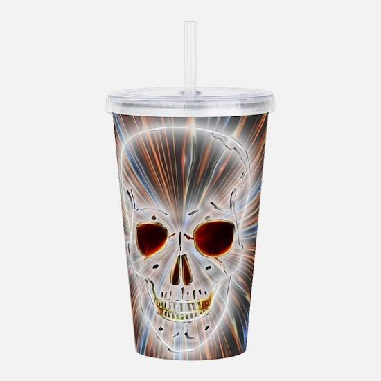Skull Gothic Acrylic Double-wall Tumbler