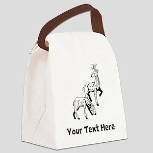 Deer (Custom) Canvas Lunch Bag