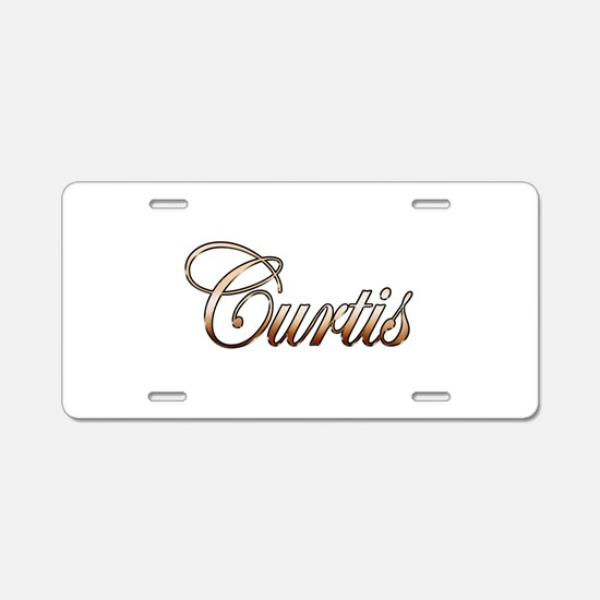 Gold Curtis Aluminum License Plate