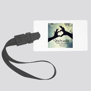 Lovely Designs Large Luggage Tag