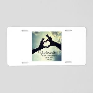 Lovely Designs Aluminum License Plate