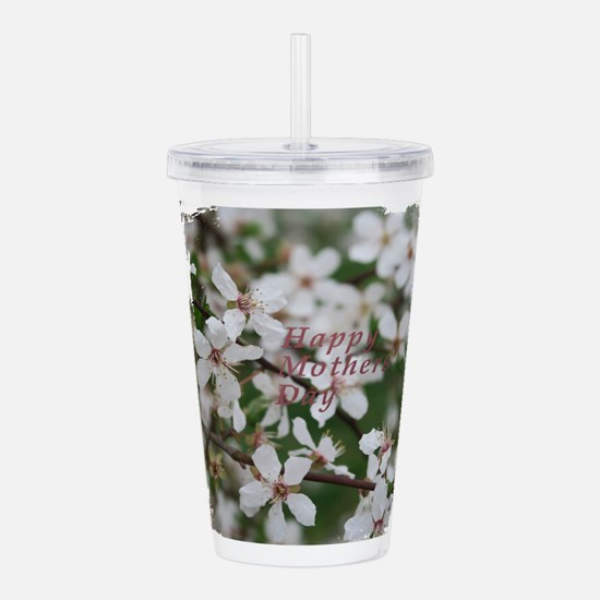 delicate pink spring f Acrylic Double-wall Tumbler