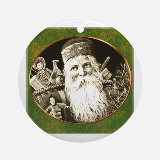 Cute Claus Round Ornament