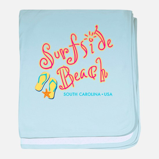 Surfside Beach - baby blanket