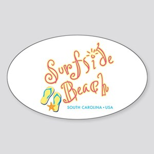 Surfside Beach - Sticker (Oval)