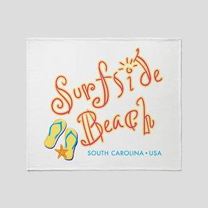 Surfside Beach - Throw Blanket