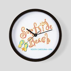 Surfside Beach - Wall Clock