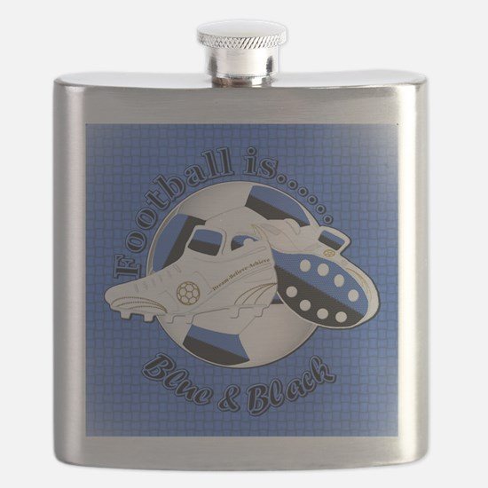 Blue and Black Football Soccer Flask