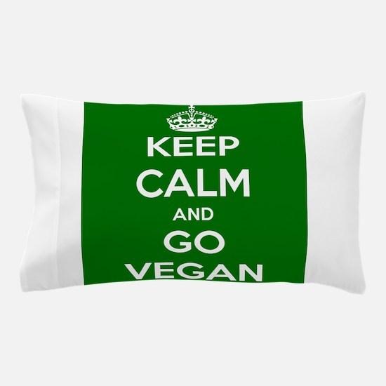 Keep Calm and GO VEGAN Pillow Case
