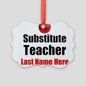 Substitute Teacher Ornament