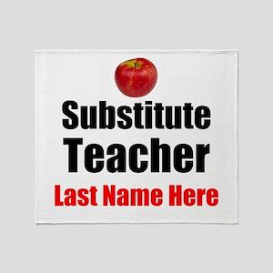 Substitute Teacher Throw Blanket