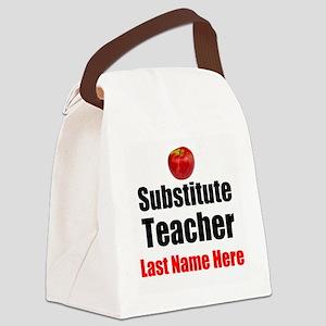 Substitute Teacher Canvas Lunch Bag